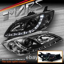 Black DRL LED Projector Head Lights for MAZDA 3 BK 2003-2009 4 doors Sedan