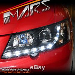 Black DRL LED Projector for Head Lights Holden Commodore VY UTE SEDAN WAGON