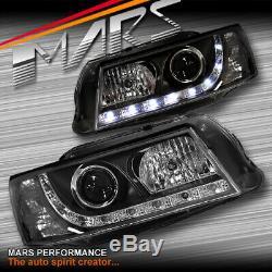 Black DRL LED Projector for Head Lights Holden Commodore VZ UTE SEDAN WAGON