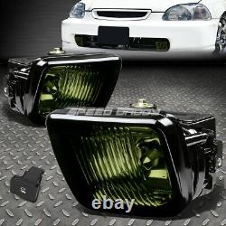Black Head Lights Amber Corner+smoked Lens Oe Fog Lamp+grille For 96-98 CIVIC