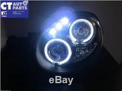 Black LED Angel Eyes Projector Head Lights for SUBARU IMPREZA WRX STI 00-02 GD