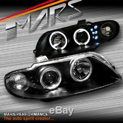 Black LED & CCFL Angel Eyes Projector Head Lights for Holden VZ Monaro 04-06