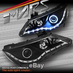 Black LED DRL & Angel Eyes Projector Head Lights for CIVIC 06-12 FD1 FD2 JDM
