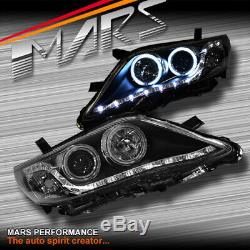 Black LED DRL & CCFL Angel Eyes Projector Head Lights for Toyota Camry 10-12