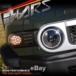 Black Side Corner Turn Signal Indicator Lights For Toyota FJ-Cruiser Head Lights