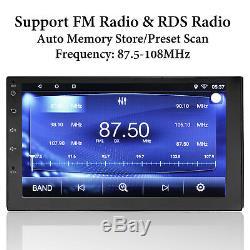 Bluetooth Car Stereo Navigation GPS Radio Head Unit USB Camera Mirror Link 2 Din