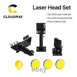C Series CO2 Laser Head Set CO2 + Reflective Si Mirror 25 + USA Focus Lens 20mm