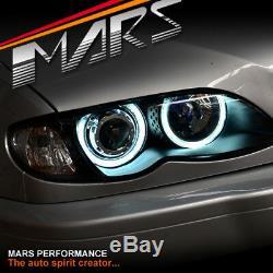CCFL Angel Eyes Head Lights for BMW E46 02-05 4D Sedan 318 320 323 325 328 330