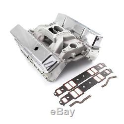 Chevy SBC 350 Straight Plug Solid FT Cylinder Head Top End Engine Combo Kit