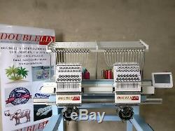 Commercial Embroidery Machine, 2 heads Compact, NEW, New style, Both head full size
