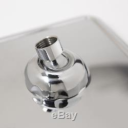 Concealed Chrome Thermostatic Shower Mixer Valve Square Dual Control Shower Head