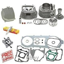Cylinder and Head 63mm Alloy Big Bore Kit GY6 150cc Scooters Mopeds Performance