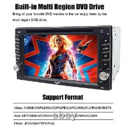 Double 2Din 6.2 Car Stereo DVD GPS Player Head Unit In Dash Bluetooth Radio+Cam