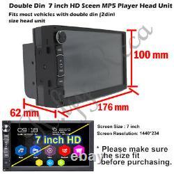 Double Din Android Car Stereo Head unit Radio + SatNav WiFi USB FM AM AUX Player