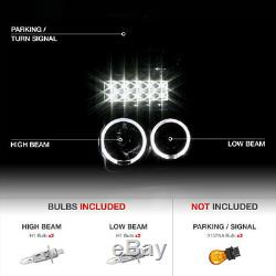 Dual Halo Angel Eye LED DRL Projector Head Lamp Light 08-10 Ford SuperDuty Truck