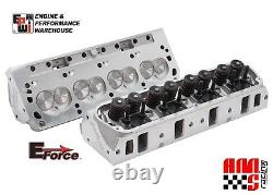 E-Force HP by 170cc 60cc Edelbrock Aluminum Cylinder Heads Pair for Ford SBF 302