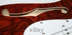 E-Gitarre, Semi, Wurzelholz, Matching Headstock, Vibrato, 3 Single Coil, G 47