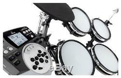 Electronic Drum Set E-Drum Kit 5 Mesh 3 Heads Cymbal Pads Module EQ USB Midi Aux