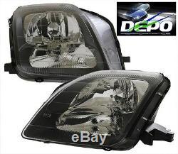 Fits 97-02 Honda Prelude JDM Black Head Light DEPO NEW SH VTEC PR