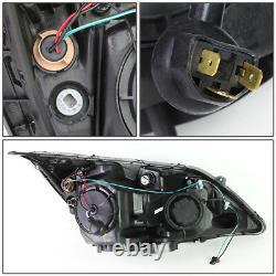 For 07-11 Honda Crv Black Housing Clear Corner Projector Headlight Head Lamps