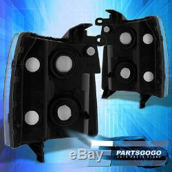 For 07-14 Chevy Silverado Direct Replacement Driving Head Lights Lamps Black