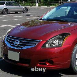 For 10-12 Nissan Altima Sedan Black Housing Amber Corner Headlight Head Lamps