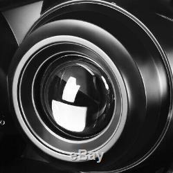 For 10-13 Mazda 3 Pair Black Housing Amber Corner Projector Headlight Head Lamp