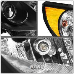 For 11-14 Sonata Pair Black Housing Amber Corner Projector Headlight Head Lamps