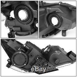 For 13-15 Nissan Altima Sedan Black/clear Corner Projector Headlight Head Lamps
