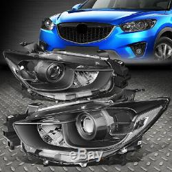 For 13-16 Mazda Cx5 Black Housing Clear Corner Projector Headlight Head Lamps
