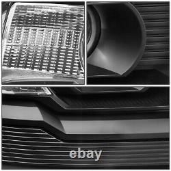 For 14-18 Gmc Sierra Black Housing Clear Corner Projector Headlight Head Lamps
