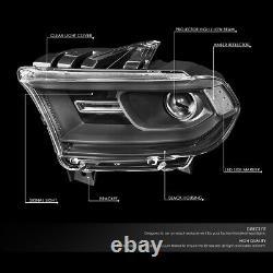 For 14-20 Dodge Durango Black Housing Clear Corner Projector Headlight Head Lamp