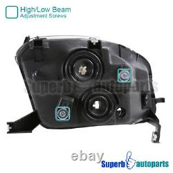 For 1997-2001 Honda Prelude Black Headlights Head Lamps Replacement L+H