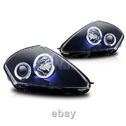 For 2000-2005 Mitsubishi Eclipse Halo Projector Black Housing Head Lights Lamps