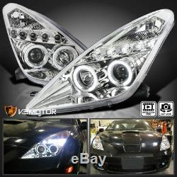 For 2000-2005 Toyota Celica LED Dual Halo Projector Headlights Head Lamps L+R