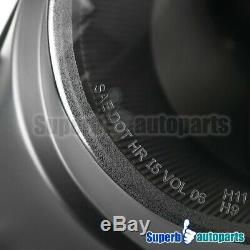 For 2007-2012 Mini Cooper S Halo Projector Headlights Head Lamps Black Lens
