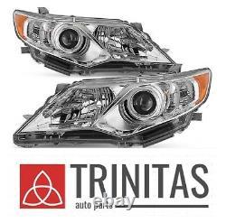 For 2012 2013 2014 12 13 14 Camry Headlights Headlamps Head lights Lamps SET