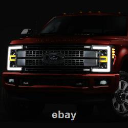 For 2017-2020 Ford F250 F350 Super Duty LED DRL Projector Headlight Head Lamps