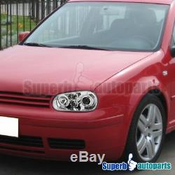 For 99-06 VW Golf GTI MK4 Halo Projector Headlights Head Lamps Replacement