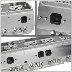 For Chevy Small Block 350 Sbc 200cc 68cc Aluminum Bare Angle Plug Cylinder Head