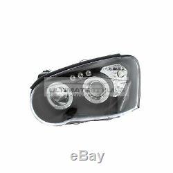 For Subaru Impreza 2003-2005 Black Angel Eye Halo Head Light Pair Left & Right