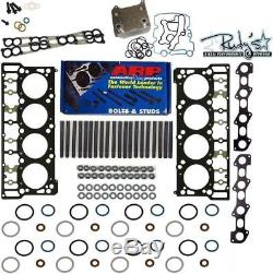 Ford 6.0 Powerstroke Black Diamond Head Gasket Oil Cooler ARP Stud Kit 18mm 20mm