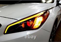 Front Head Light Lamp 2way Eyeline Surface Emitting LED for Hyundai 2015+ Sonata