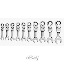 Gearwrench 9550 10 piece Met Stubby Flex -Head D. B. Ratcheting Socketing Wrench