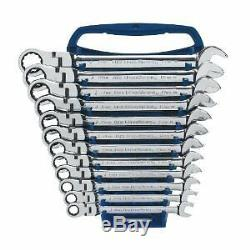 Gearwrench 9901 Metric Flex-Head Combination Ratcheting Wrench Set 12pc