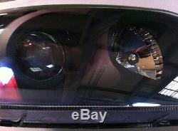 Genuine Head Light Lamp Black Bezel 2p for 2001 2006 Hyundai Tiburon Coupe