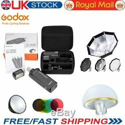 Godox AD200 2.4 TTL HSS Two Heads 200w Flash with Softbox Diffuser Reflector Kit