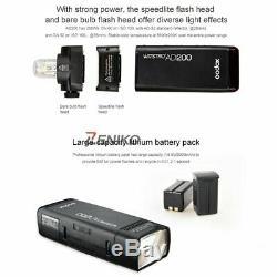 Godox AD200 TTL HSS 2.4G HSS 1/8000 Wireless Pocket Double Head Light Flash UK
