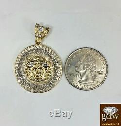 Gold Pendant Charm Medusa Head pendant Men's 10k Yellow Gold Charm