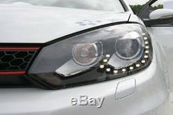Golf Mk6 Drl Bi Xenon Headlamps Gtd R20 Gti Daytime Running Lights Headlights R
